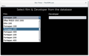 Selecting a film from the database